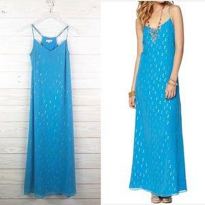 Lilly Pulitzer Dusk Strappy Chiffron Maxi Dress XS
